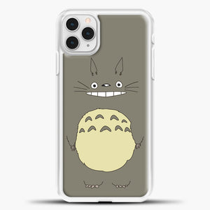 My Neighbour Totoro Brown iPhone 11 Pro Case, White Plastic Case | casedilegna.com