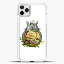 Load image into Gallery viewer, My Neighbour Totoro Cute Totoro Art iPhone 11 Pro Case, White Plastic Case | casedilegna.com