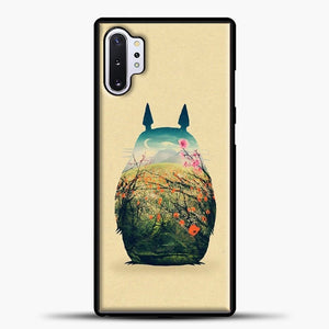 My Neighbour Totoro Flower Samsung Galaxy Note 10 Plus Case, Black Plastic Case | casedilegna.com