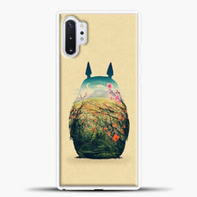 Load image into Gallery viewer, My Neighbour Totoro Flower Samsung Galaxy Note 10 Plus Case, White Plastic Case | casedilegna.com