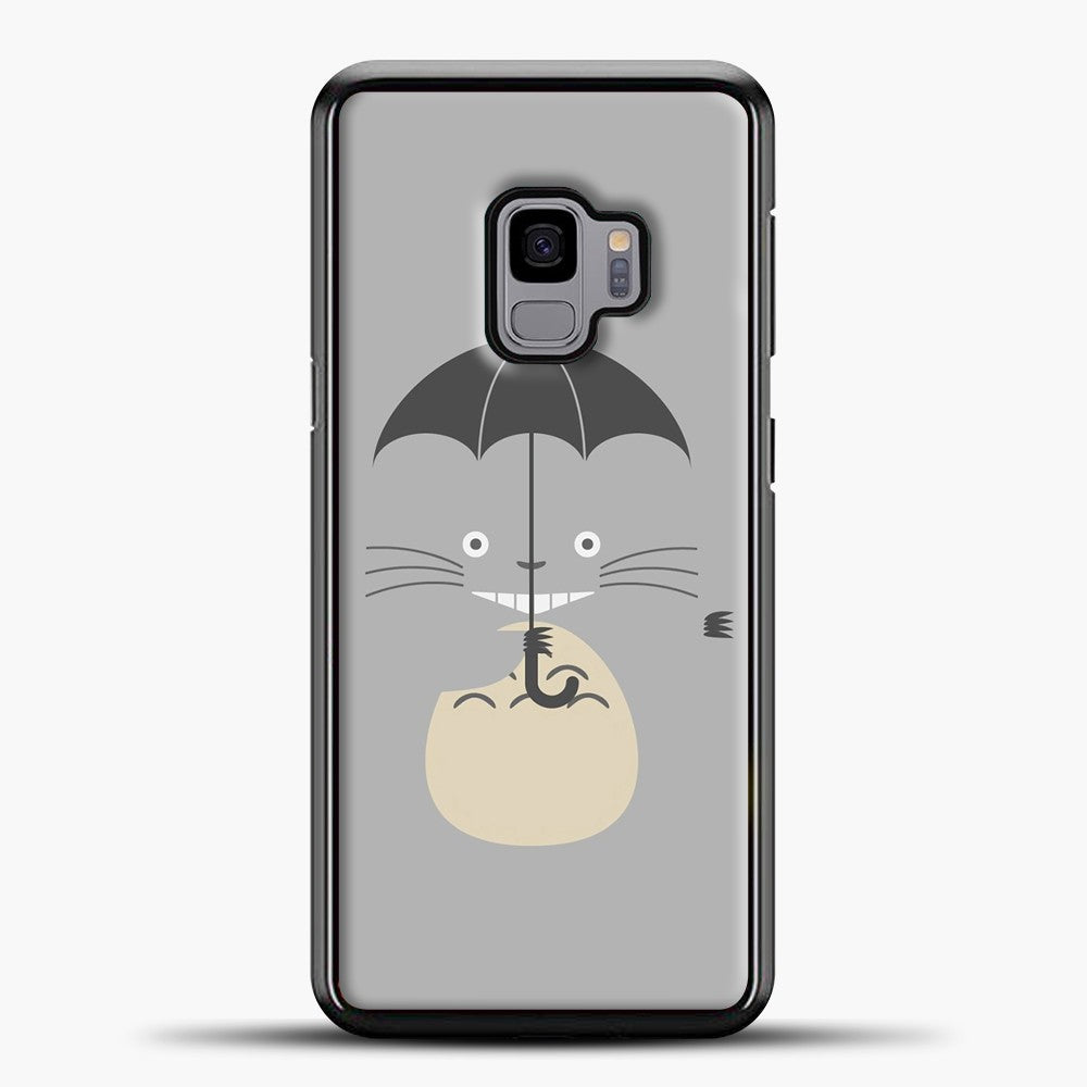 My Neighbour Totoro Grey Samsung Galaxy S9 Case, Black Plastic Case | casedilegna.com