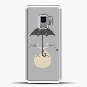 My Neighbour Totoro Grey Samsung Galaxy S9 Case, White Plastic Case | casedilegna.com