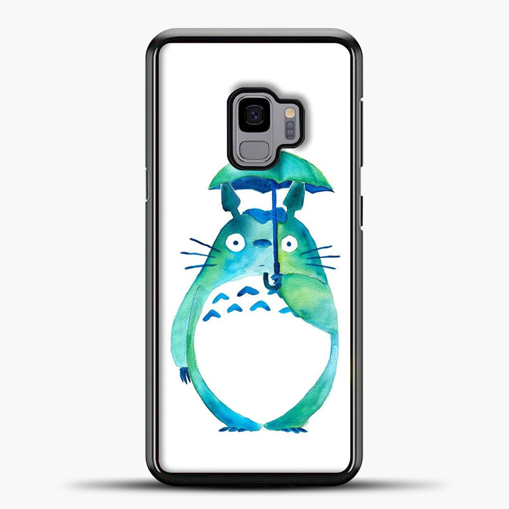 My Neighbour Totoro In The Rain Art Print Samsung Galaxy S9 Case, Black Plastic Case | casedilegna.com