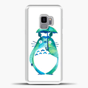 My Neighbour Totoro In The Rain Art Print Samsung Galaxy S9 Case, White Plastic Case | casedilegna.com