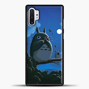 My Neighbour Totoro Moon Samsung Galaxy Note 10 Plus Case, Black Plastic Case | casedilegna.com