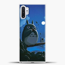 Load image into Gallery viewer, My Neighbour Totoro Moon Samsung Galaxy Note 10 Plus Case, White Plastic Case | casedilegna.com