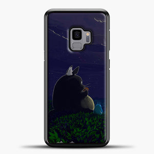 My Neighbour Totoro Night Samsung Galaxy S9 Case, Black Plastic Case | casedilegna.com