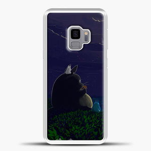 My Neighbour Totoro Night Samsung Galaxy S9 Case, White Plastic Case | casedilegna.com