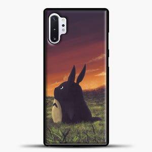 My Neighbour Totoro Sunset Samsung Galaxy Note 10 Plus Case, Black Plastic Case | casedilegna.com