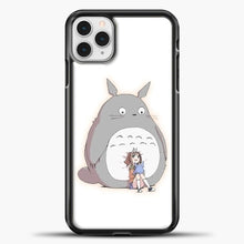 Load image into Gallery viewer, My Neighbour Totoro With Girl iPhone 11 Pro Case, Black Plastic Case | casedilegna.com