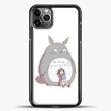 Load image into Gallery viewer, My Neighbour Totoro With Girl iPhone 11 Pro Max Case, Black Plastic Case | casedilegna.com