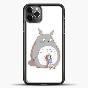 My Neighbour Totoro With Girl iPhone 11 Pro Max Case, Black Plastic Case | casedilegna.com