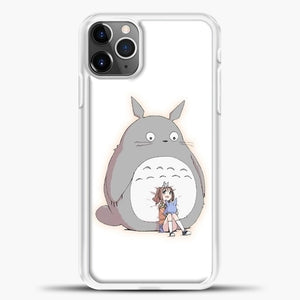 My Neighbour Totoro With Girl iPhone 11 Pro Max Case, White Plastic Case | casedilegna.com