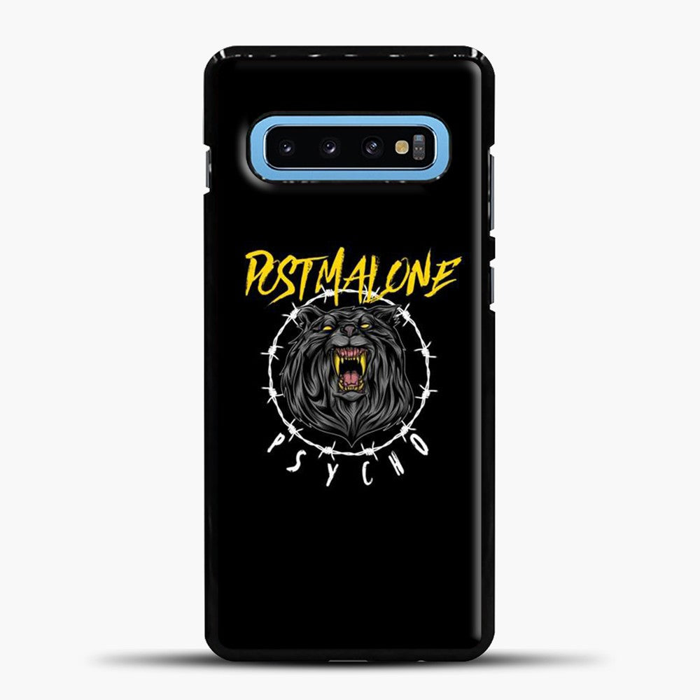 Post Malone Black Background Samsung Galaxy S10 Case, Black Plastic Case | casedilegna.com