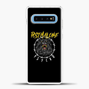 Post Malone Black Background Samsung Galaxy S10 Case, White Plastic Case | casedilegna.com