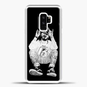 Post Malone Black Wallpaper Samsung Galaxy S9 Case, White Plastic Case | casedilegna.com