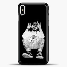 Load image into Gallery viewer, Post Malone Black Wallpaper iPhone X Case, Black Plastic Case | casedilegna.com