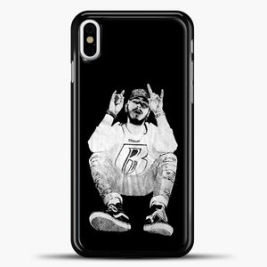 Post Malone Black Wallpaper iPhone X Case, Black Plastic Case | casedilegna.com