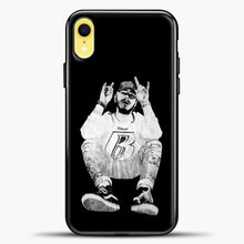 Load image into Gallery viewer, Post Malone Black Wallpaper iPhone XR Case, Black Plastic Case | casedilegna.com