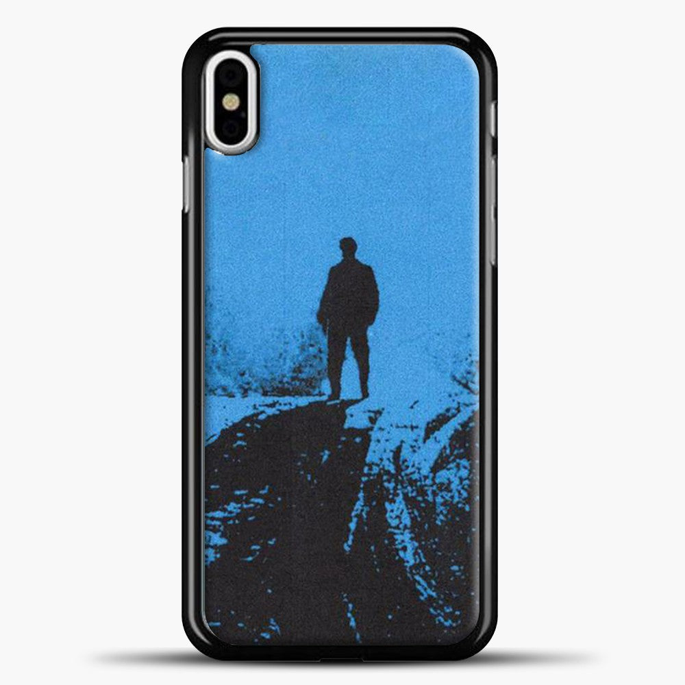 Post Malone Blue Background iPhone X Case, Black Plastic Case | casedilegna.com