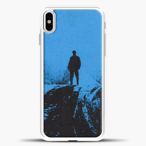 Post Malone Blue Background iPhone X Case, White Plastic Case | casedilegna.com