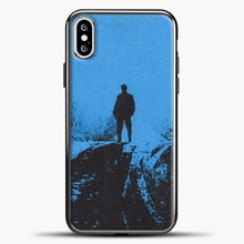 Load image into Gallery viewer, Post Malone Blue Background iPhone XS Case, Black Plastic Case | casedilegna.com