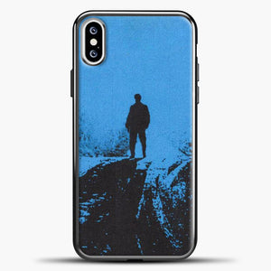Post Malone Blue Background iPhone XS Case, Black Plastic Case | casedilegna.com