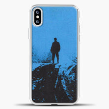 Load image into Gallery viewer, Post Malone Blue Background iPhone XS Case, White Plastic Case | casedilegna.com