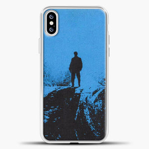 Post Malone Blue Background iPhone XS Case, White Plastic Case | casedilegna.com