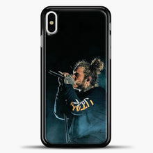 Load image into Gallery viewer, Post Malone Blue Smoke iPhone X Case, Black Plastic Case | casedilegna.com