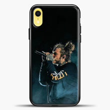 Load image into Gallery viewer, Post Malone Blue Smoke iPhone XR Case, Black Plastic Case | casedilegna.com