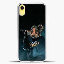 Load image into Gallery viewer, Post Malone Blue Smoke iPhone XR Case, White Plastic Case | casedilegna.com