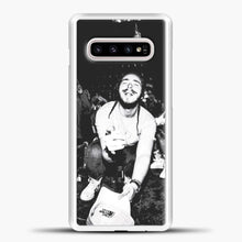 Load image into Gallery viewer, Post Malone Crowded Perfomance Samsung Galaxy S10e Case, White Plastic Case | casedilegna.com