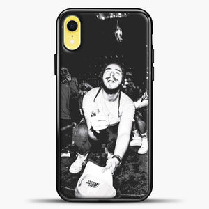 Post Malone Crowded Perfomance iPhone XR Case, Black Plastic Case | casedilegna.com