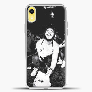 Post Malone Crowded Perfomance iPhone XR Case, White Plastic Case | casedilegna.com