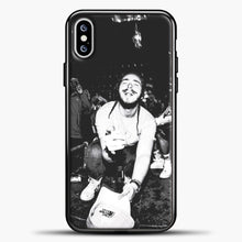 Load image into Gallery viewer, Post Malone Crowded Perfomance iPhone XS Max Case, Black Plastic Case | casedilegna.com