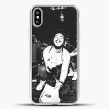 Load image into Gallery viewer, Post Malone Crowded Perfomance iPhone XS Max Case, White Plastic Case | casedilegna.com
