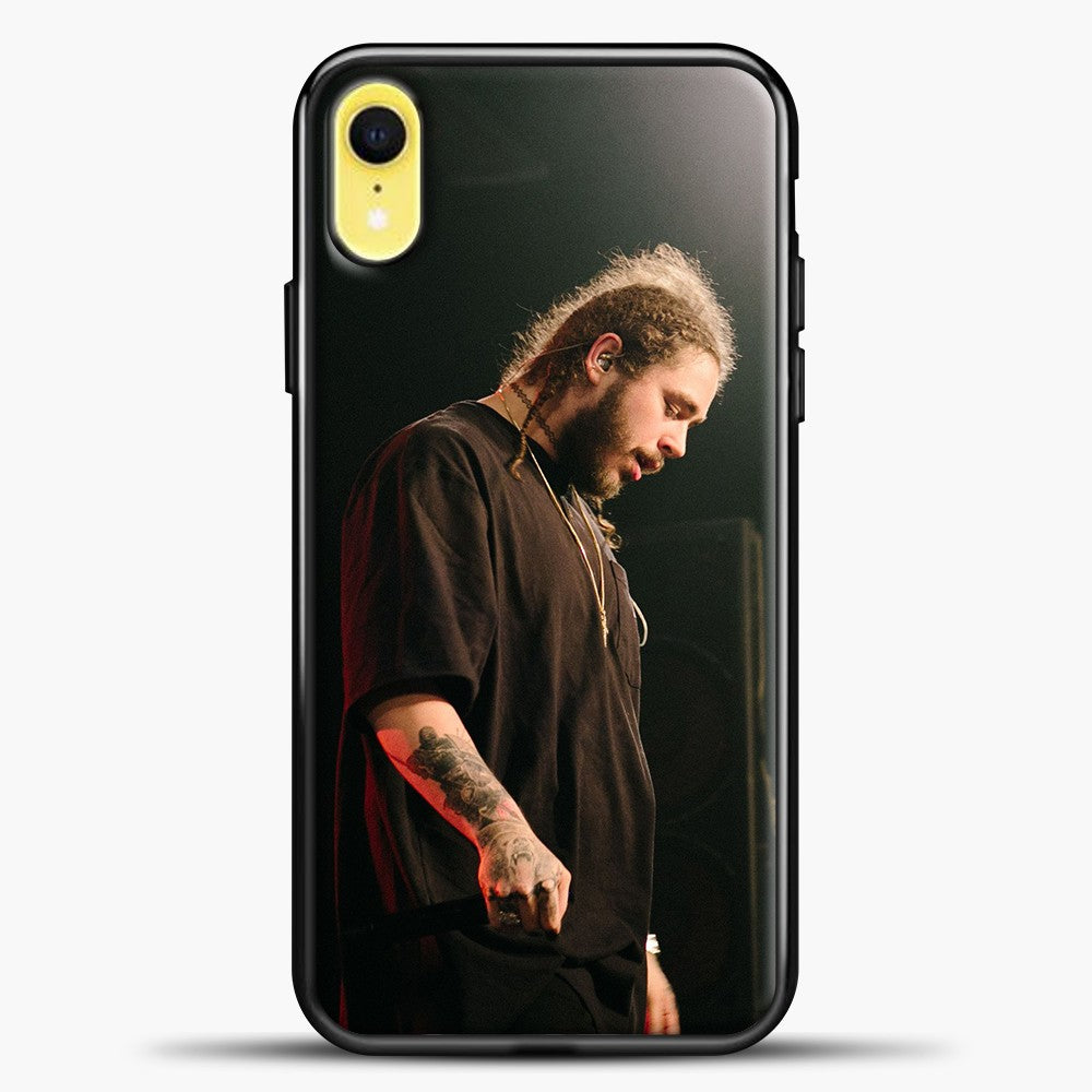 Post Malone Doing Perfomance iPhone XR Case, Black Plastic Case | casedilegna.com