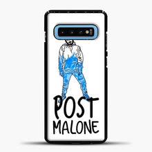 Load image into Gallery viewer, Post Malone Drawing Image Samsung Galaxy S10 Case, Black Plastic Case | casedilegna.com