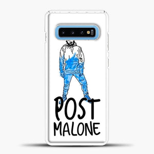 Post Malone Drawing Image Samsung Galaxy S10 Case, White Plastic Case | casedilegna.com