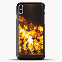 Load image into Gallery viewer, Post Malone Fire iPhone X Case, Black Plastic Case | casedilegna.com