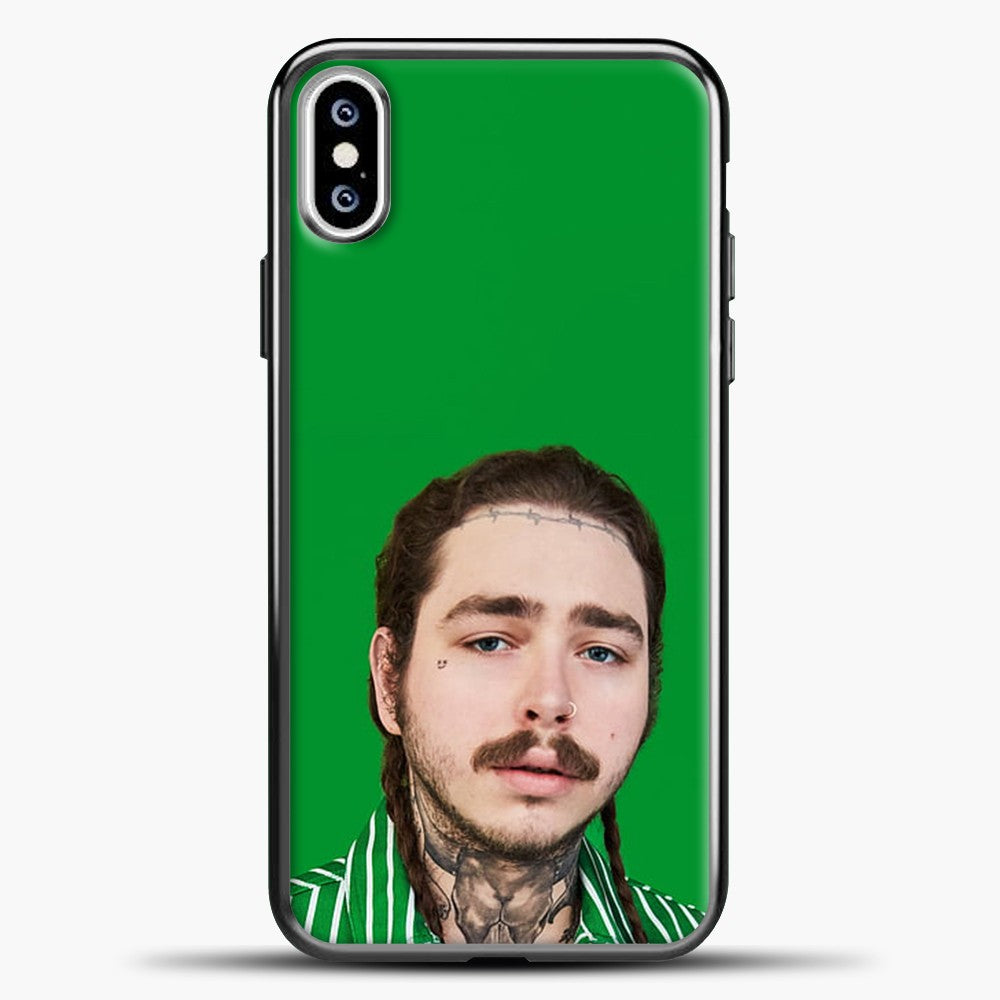 Post Malone Green Background iPhone XS Case, Black Plastic Case | casedilegna.com