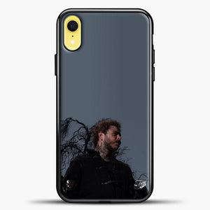 Post Malone Grey Background iPhone XR Case, Black Plastic Case | casedilegna.com