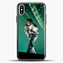 Load image into Gallery viewer, Post Malone Perfomance Blue Smoke iPhone XS Case, Black Plastic Case | casedilegna.com