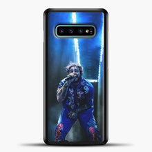 Load image into Gallery viewer, Post Malone Perfome Under Blue Light Samsung Galaxy S10e Case, Black Plastic Case | casedilegna.com