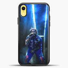 Load image into Gallery viewer, Post Malone Perfome Under Blue Light iPhone XR Case, Black Plastic Case | casedilegna.com