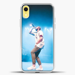 Post Malone Perfome Under The Blue Light iPhone XR Case, White Plastic Case | casedilegna.com