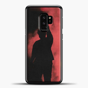 Post Malone Red Smoke Samsung Galaxy S9 Case, Black Plastic Case | casedilegna.com