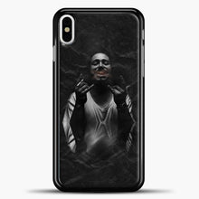 Load image into Gallery viewer, Post Malone Smoking iPhone X Case, Black Plastic Case | casedilegna.com
