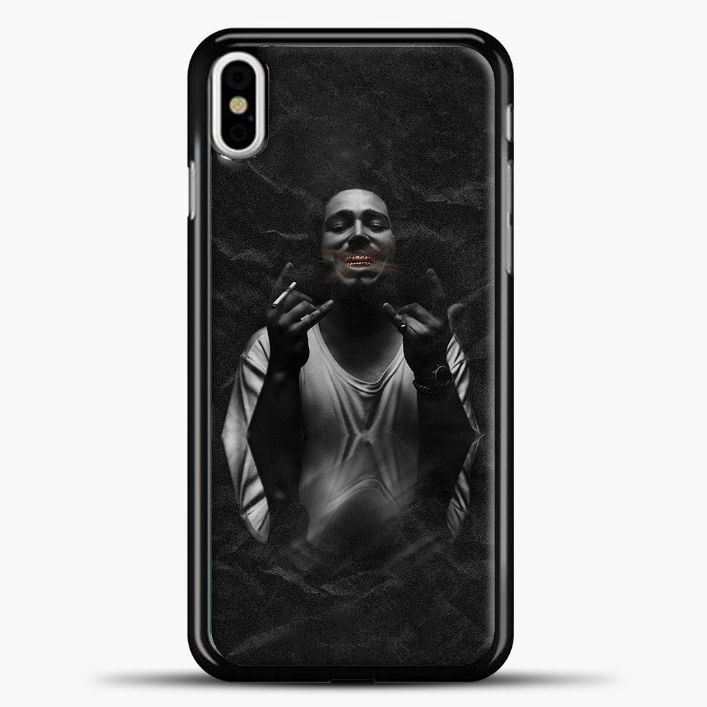 Post Malone Smoking iPhone X Case, Black Plastic Case | casedilegna.com